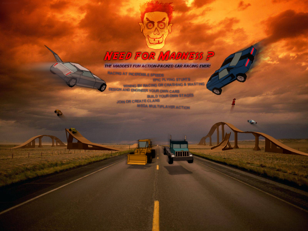 Car Games - Need for Madness Multiplayer - 3D car racing game!